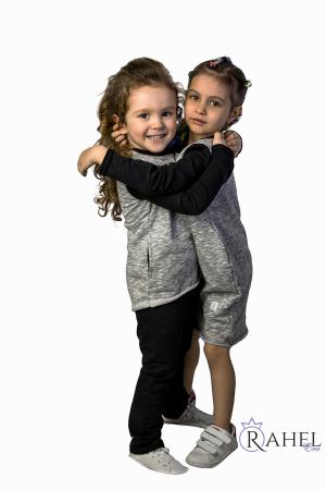 Trening copii unisex gri melange0