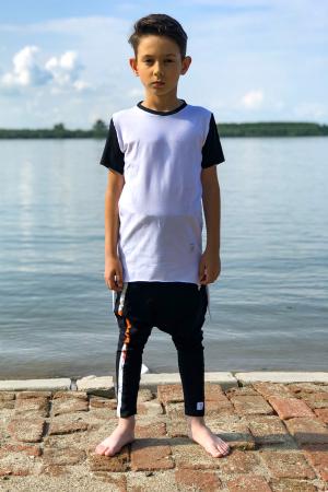 Tricou baieti white&black1