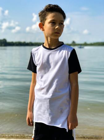 Tricou baieti white&black4