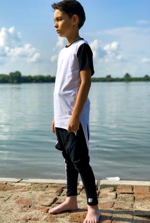 Tricou baieti white&black0