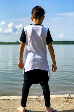 Tricou baieti white&black2