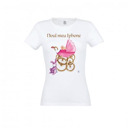 Tricou personalizabil femei model new iphone pink0