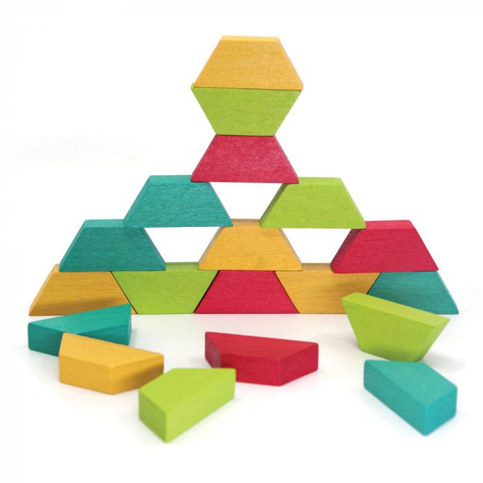 Joc educativ Tangram cu 80 piese din lemn si 4 planse cu model Svoora [4]