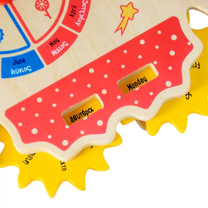 Jucarie educativa din lemn Calendar Spatial: Calendar, Ceas, Anotimpuri, Lunile anului [4]