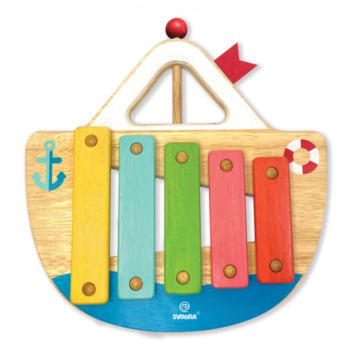 """Xilofon din lemn model """"Barcuta"""" cu 5 note [0]"""