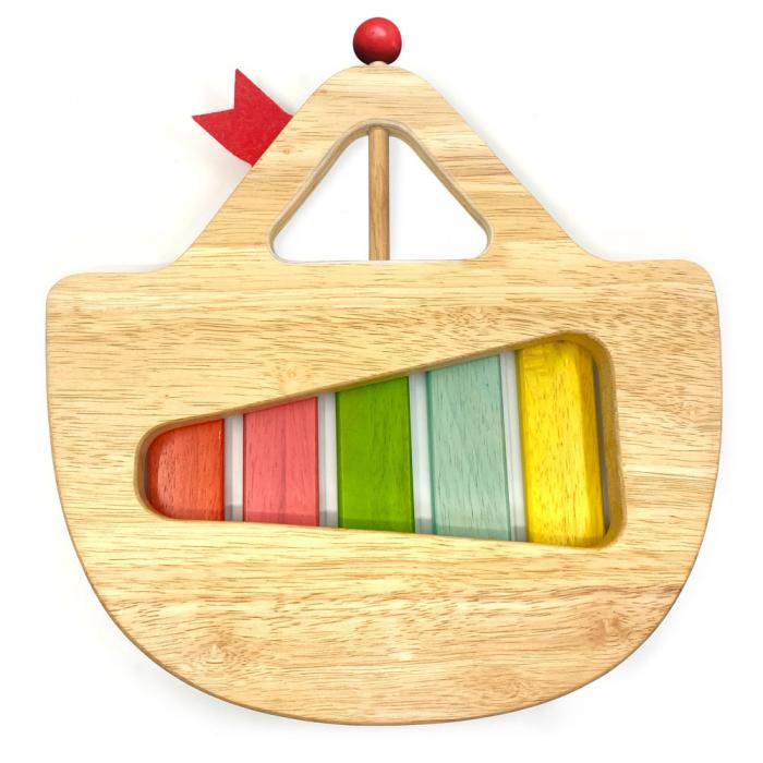 """Xilofon din lemn model """"Barcuta"""" cu 5 note [1]"""