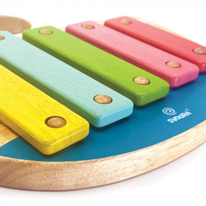 """Xilofon din lemn model """"Barcuta"""" cu 5 note [2]"""