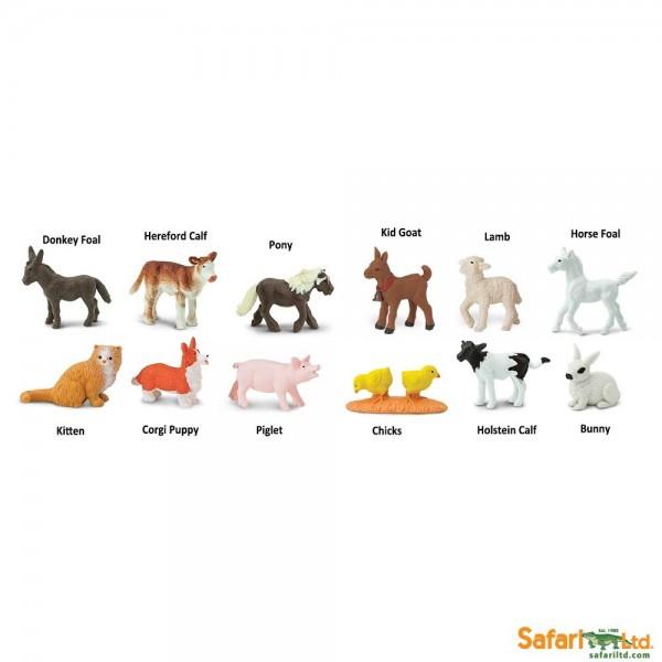 Set 12 figurine Pui Animale De La Ferma 0