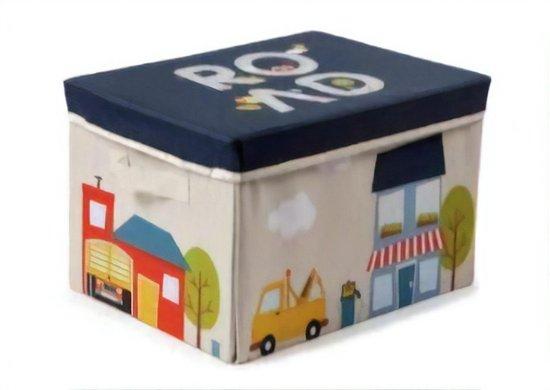 Cutie depozitare pentru camera copiilor 2 in 1 - depozitare jucarii si covoras de joaca 0