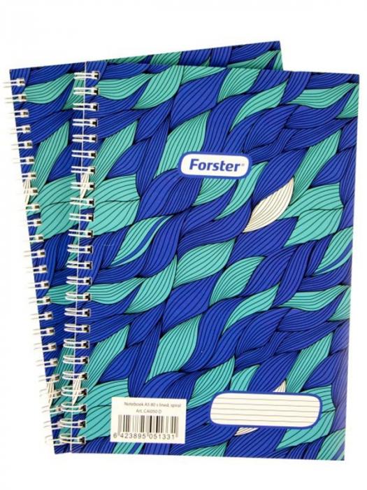 Blocnotes cu spirală Forster A4 - 50 File Dictando 0