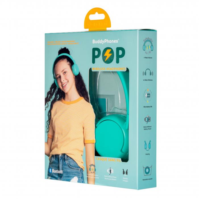 Casti wireless pentru copii, cu limitare nivel de volum POP BuddyPhones 0