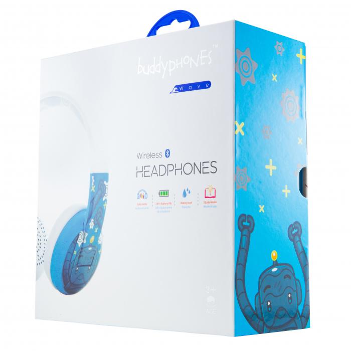 Casti Wireless Pentru Copii Cu Reglare Nivel Volum Si Autocolante Wave [0]