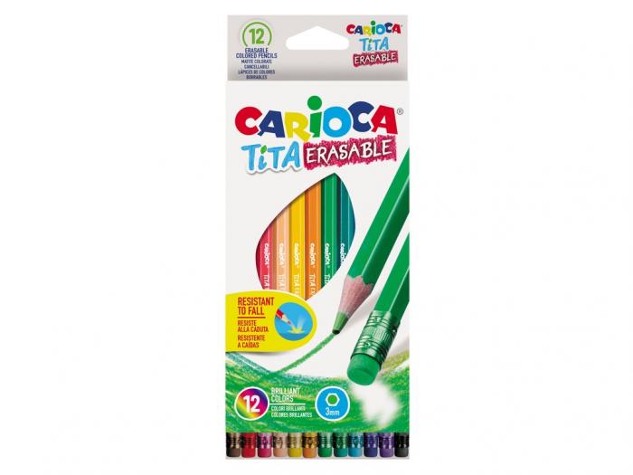 Creioane Color Tita Erasable, 12 Culori 0
