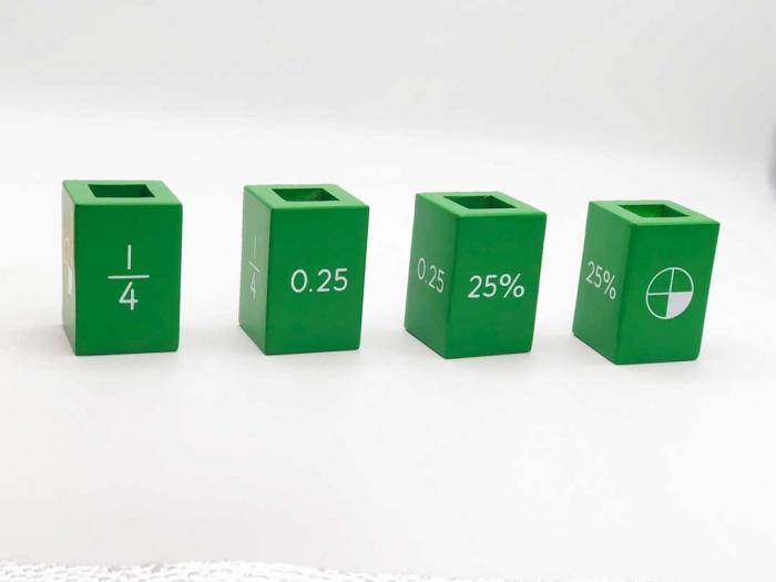 Joc matematic turnul fractiilor din lemn Nexus, 39 piese 2