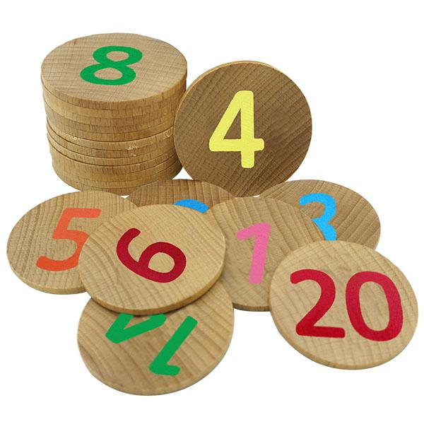 Joc memorie cu numere de la 1-20 piese lemn Nexus 0