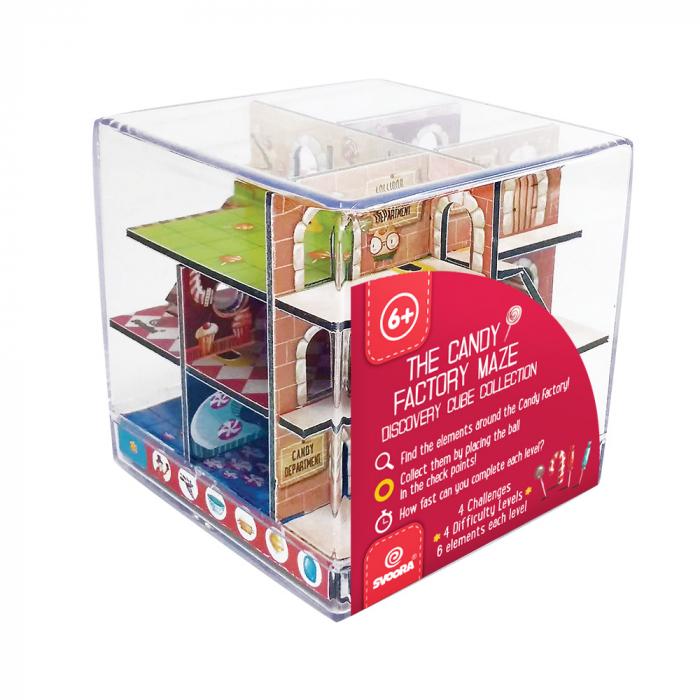 Labirint Din Lemn 3D - The Candy Factory Maze 3