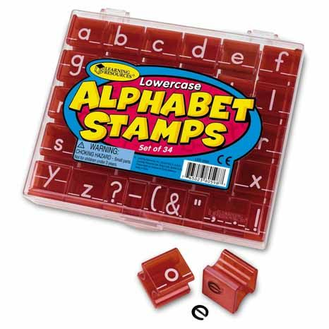 Stampile De Jucarie Lowercase Alphabet Stamps 0