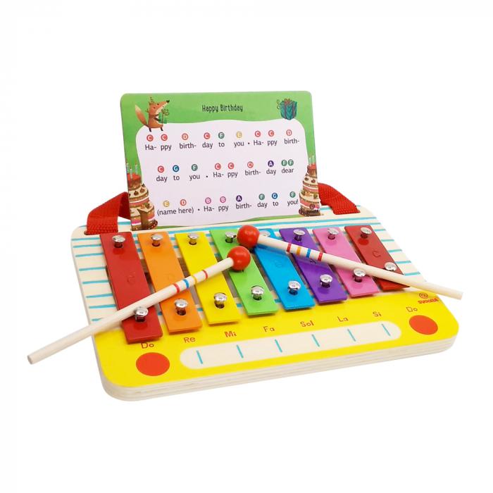Metalofon De Jucarie Cu 8 Note Pentru Copii 3