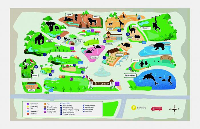 Covoras De Joaca Copii Pentru Podea Gradina Zoologica + 5 Figurine Cadou 0