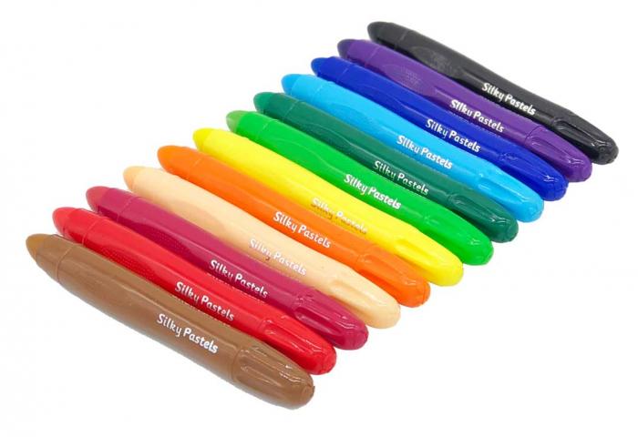 Set 12 culori triunghiulare Silky Pastels Nexus 0