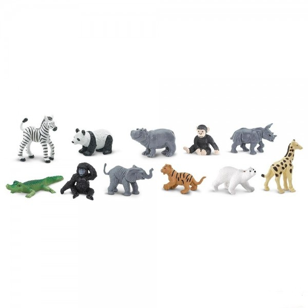 Set 12 figurine Pui Animale Salbatice De La Zoo Safari Ltd 0