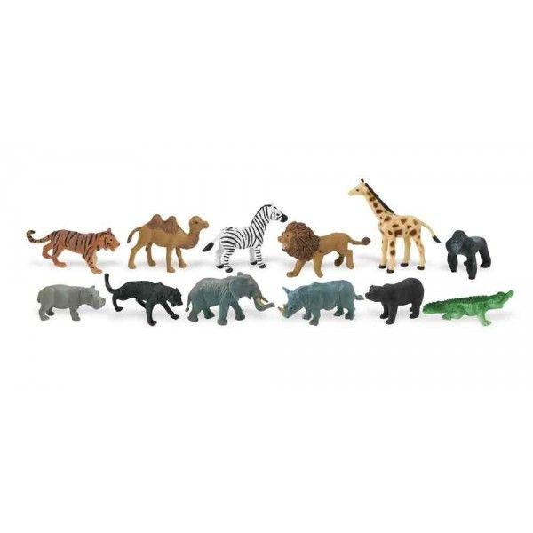 Set 48 figurine animale din jungla Safari LTD 1