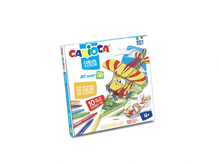 Set Creativ Create & Color Carioca Jet Junior 3D 0