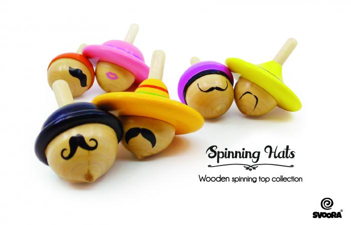 "Titirez din lemn colectia ""Spinning Hats"" Svoora [0]"