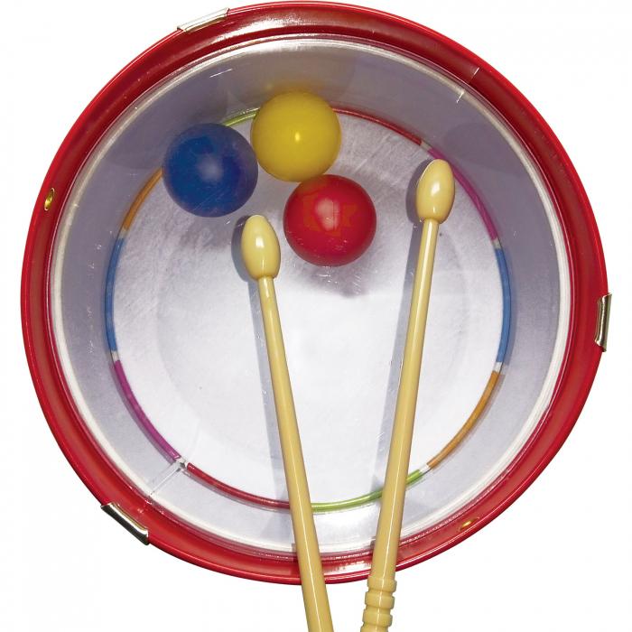 Toba Multicolora Copii - Tin Drum, 2 Bete Lemn 1