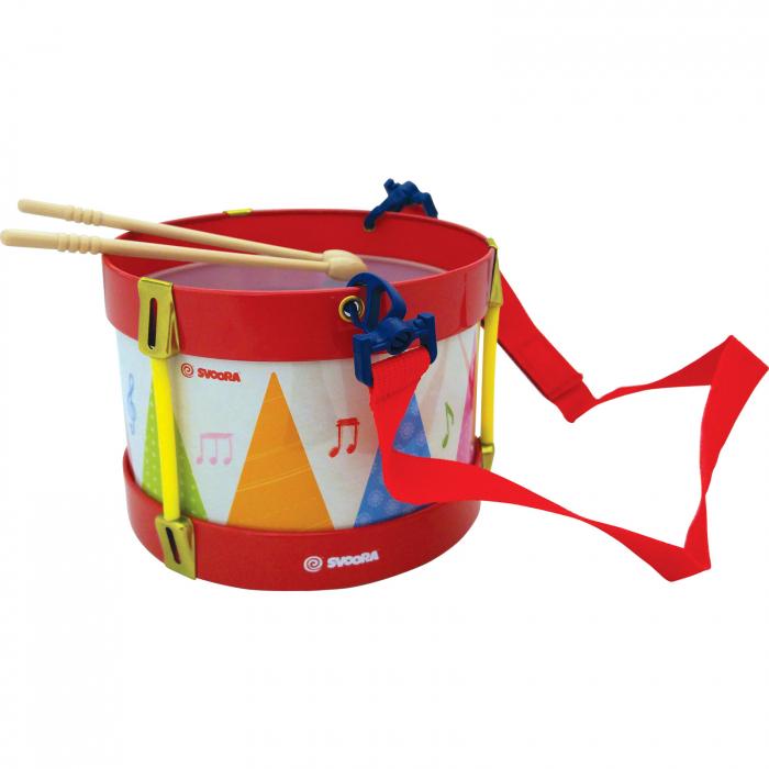 Toba Multicolora Copii - Tin Drum, 2 Bete Lemn 0