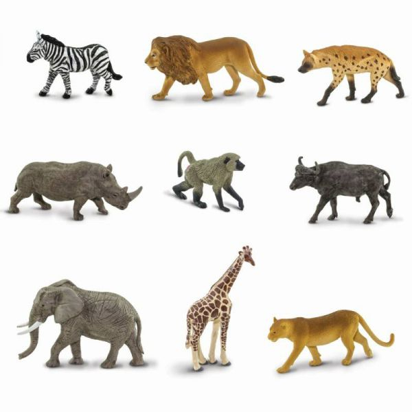 Tub 9 figurine  Animale din Africa 1
