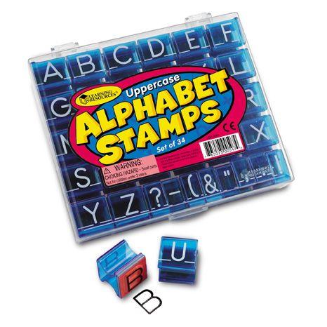Stampile De Jucarie Uppercase Alphabet Stamps Set 0