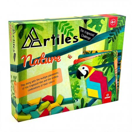 Joc educativ Tangram cu 80 piese din lemn si 4 planse cu model Svoora [0]