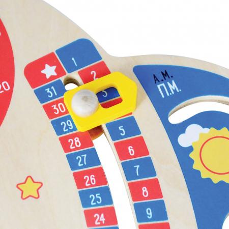 Jucarie educativa din lemn Calendar Spatial: Calendar, Ceas, Anotimpuri, Lunile anului [5]