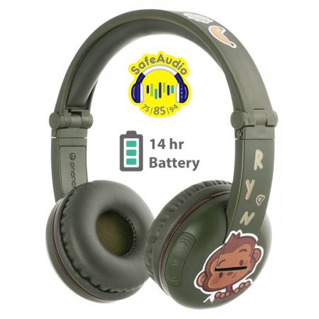 Casti Wireless Pentru Copii Cu Reglare Nivel Volum Si Autocolante Play1
