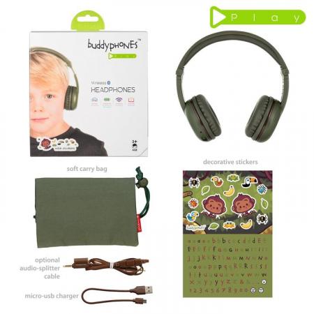 Casti Wireless Pentru Copii Cu Reglare Nivel Volum Si Autocolante Play2