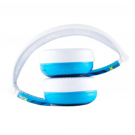 Casti Wireless Pentru Copii Cu Reglare Nivel Volum Si Autocolante Wave [4]