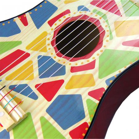 Chitara Din Lemn Pentru Copii Frumos Pictata Circus [1]