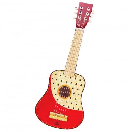 Chitara Din Lemn Pentru Copii Frumos Pictata Indie0