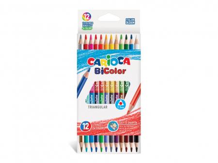 Creioane Color Carioca Bi-Color 12/Set0