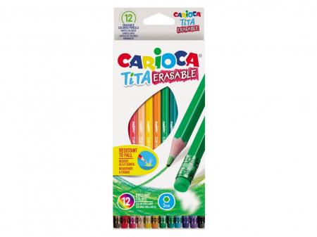 Creioane Color Tita Erasable, 12 Culori0