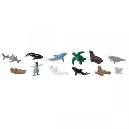 Set 12 Figurine Animale Pui Din Mare Safari Ltd [0]