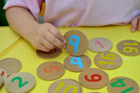 Joc memorie cu numere de la 1-20 piese lemn1