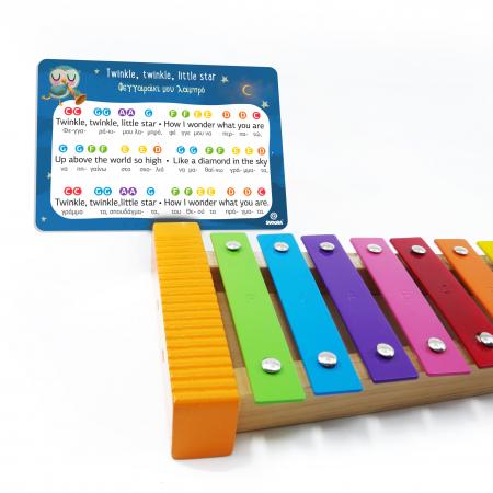 Metalofon De Jucarie Cu 12 Note Pentru Copii3