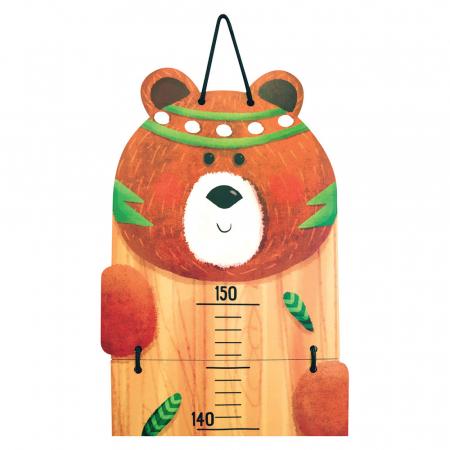 Metru De Perete Pentru Masurat Copii 'Indianimals' - Urs [1]