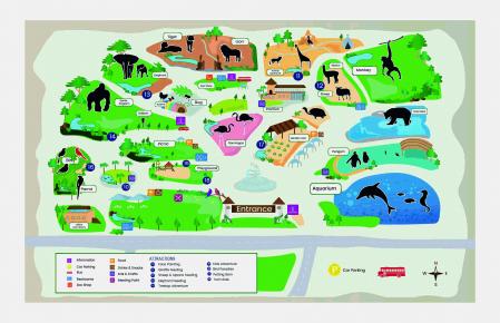 Covoras De Joaca Copii Pentru Podea Gradina Zoologica + 5 Figurine Cadou0