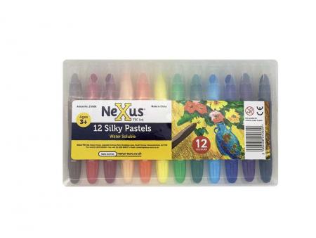 Set 12 culori triunghiulare Silky Pastels2