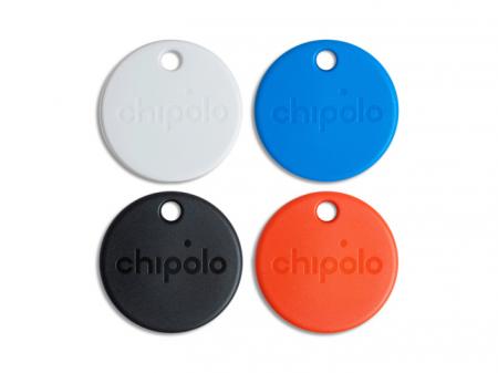 Set 4 Dispozitive inteligente de localizare Chipolo One - negru+alb+albastru+rosu, Bluetooth [1]