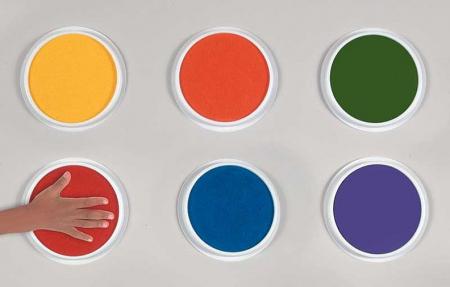 Set 6 culori gigantice tip pad pentru pictura cu palmele copii Nexus [1]