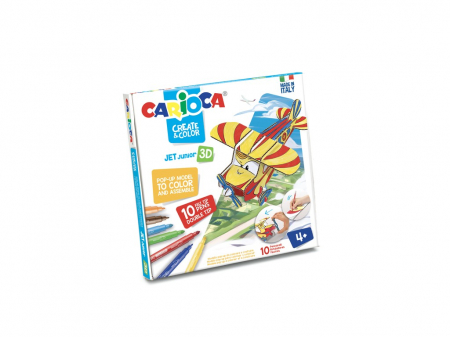 Set Creativ Create & Color Carioca Jet Junior 3D0